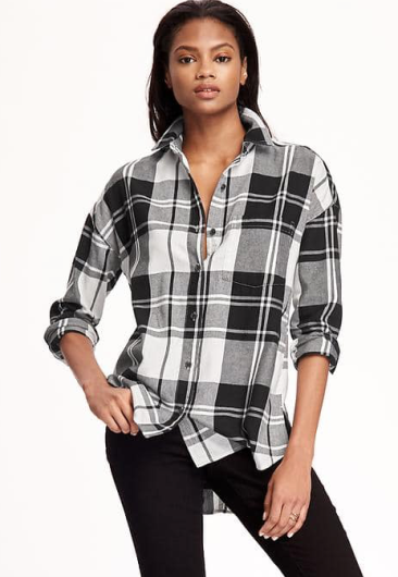 Old Navy Boyfriend Flannel Shirt for Women