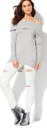 NY and Company Off-the-shoulder Sweater