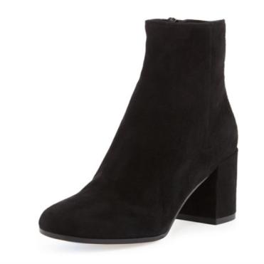 Bergdorf Goodman Blakely Suede Block-Heel Ankle Boot
