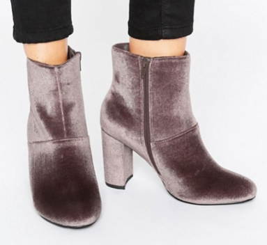 ASOS Velvet Boots