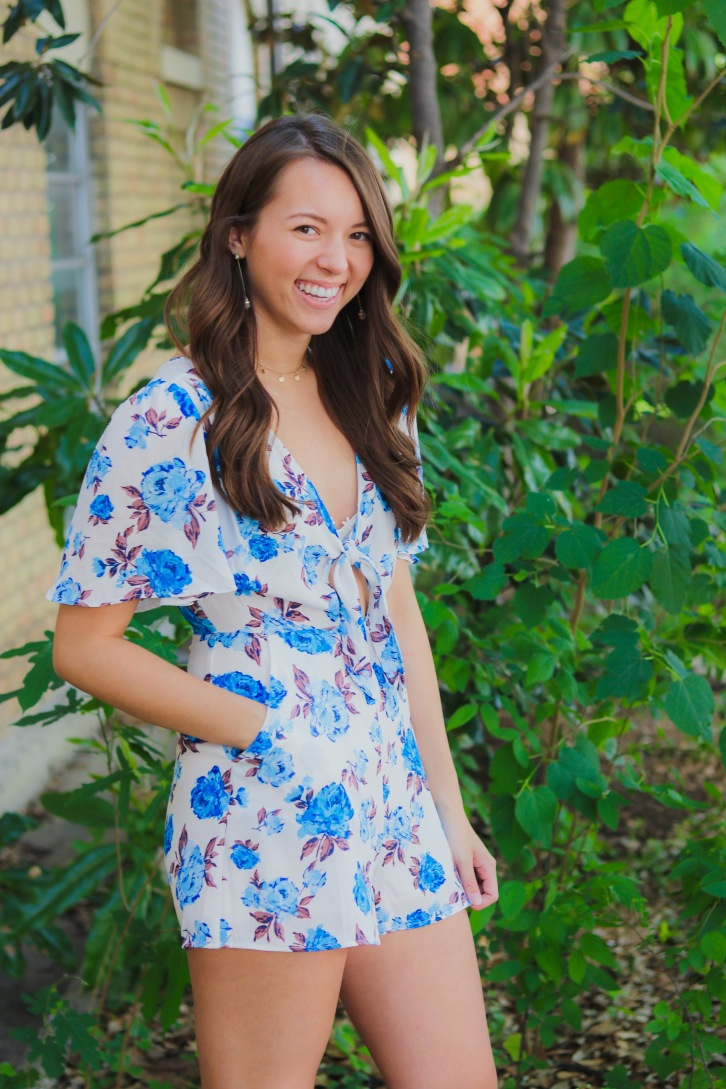 "Romper: Dainty Hooligan ""Beautiful In Blue Roses"""